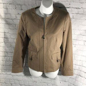 Doncaster Jacket Tan color size 6 NEW